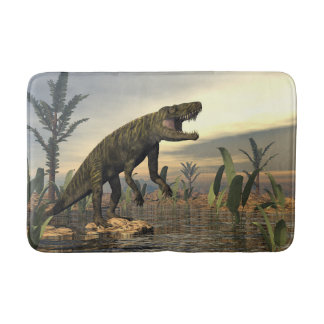 Batrachotomus dinosaur -3D render Bath Mat