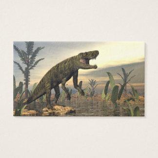 Batrachotomus dinosaur -3D render Business Card