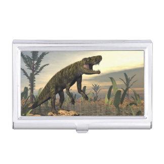 Batrachotomus dinosaur -3D render Business Card Holder