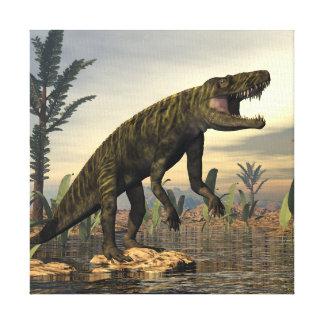 Batrachotomus dinosaur -3D render Canvas Print