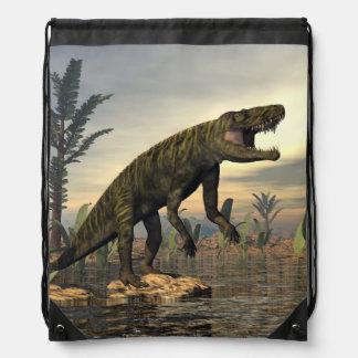 Batrachotomus dinosaur -3D render Drawstring Bag