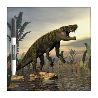 Batrachotomus dinosaur -3D render Dry Erase Board