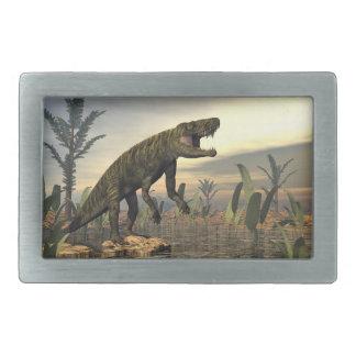 Batrachotomus dinosaur -3D render Rectangular Belt Buckle