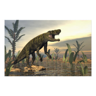 Batrachotomus dinosaur -3D render Stationery