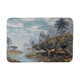Batrachotomus dinosaurs -3D render Bath Mat