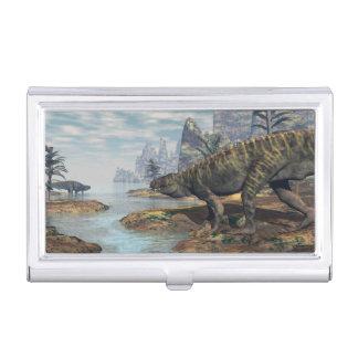 Batrachotomus dinosaurs -3D render Business Card Holder