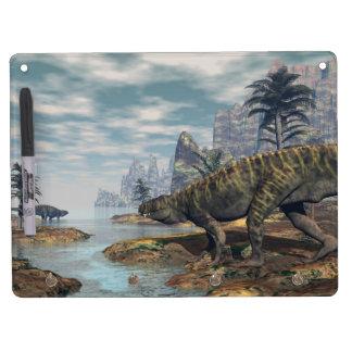 Batrachotomus dinosaurs -3D render Dry Erase Board With Keychain Holder