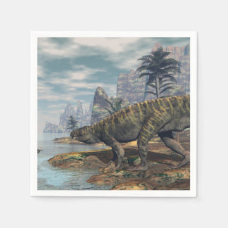 Batrachotomus dinosaurs -3D render Paper Napkins
