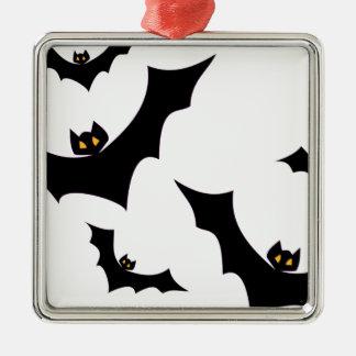 Bats #2 metal ornament