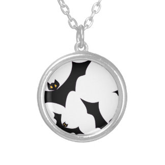 Bats #2 silver plated necklace