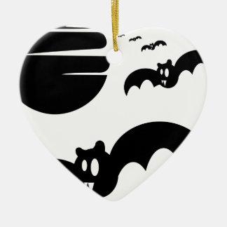 Bats #4 ceramic ornament