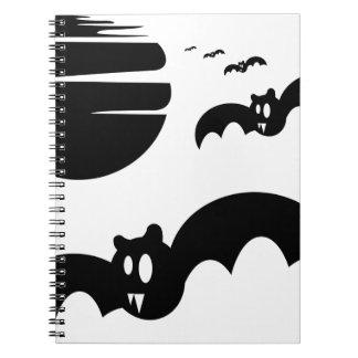 Bats #4 spiral notebook