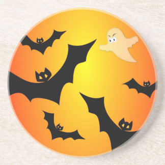 Bats and a Ghost Beverage Coasters