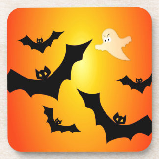 Bats and a Ghost Drink Coaster