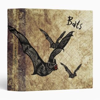 Bats and Bats with Grungy Background Vinyl Binders