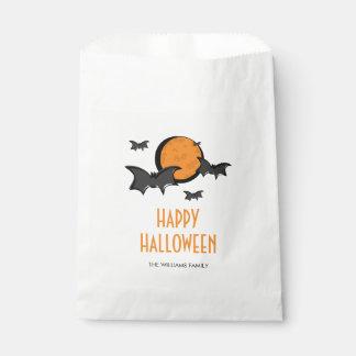Bats and Moon Halloween Treat Favor Bag