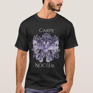 Bats and Swirls Carpe Noctem Gothic T-Shirt