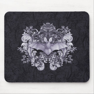 Bats and Swirls Gothic Mouspad Mouse Pad