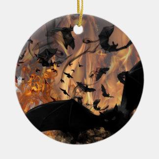 Bats! Ceramic Ornament