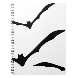 Bats Flying Spiral Notebook