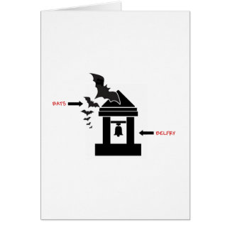 Bats in the Belfry Card