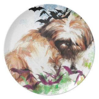 bats in the belfry party plate