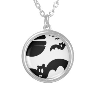 Bats Silver Plated Necklace