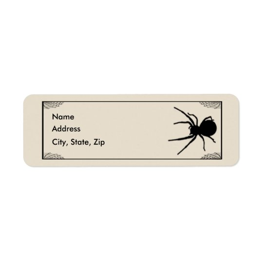 Bats & Spider Address Labels Template
