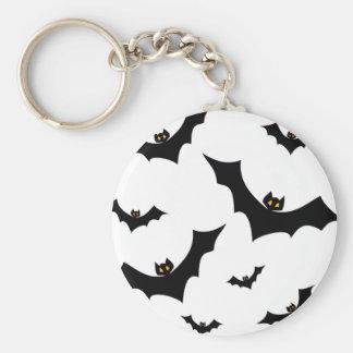 BATS transparent (pick a background color!) ~ Basic Round Button Keychain