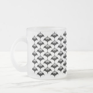 Bats Tribal Frosted Silhouette Mug