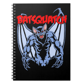 Batsquatch Spiral Notebook