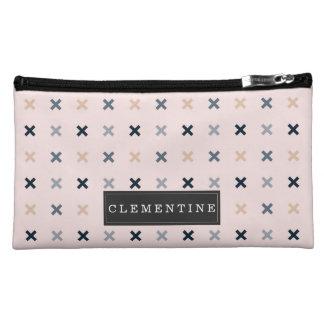 Batsu X Minimalist Pattern | Add Your Name Cosmetic Bag