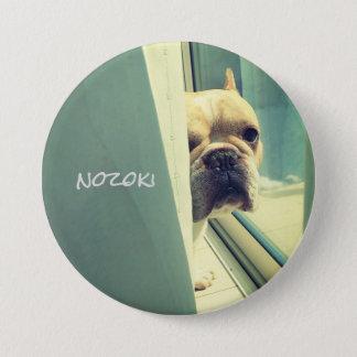 batsuji (looking) of dog 3 inch round button