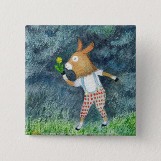 batsuji of donkey 2 inch square button