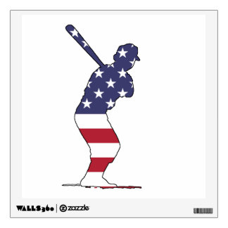 Batter - American Flag Wall Decal