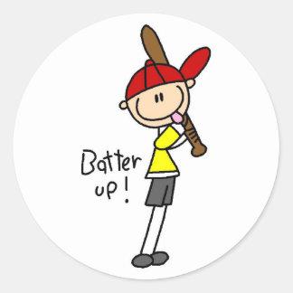 Batter Up Baseball Sticker