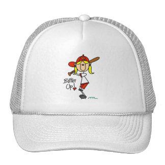 Batter Up! Softball Stick Figure Hat