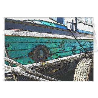Battered Boat card