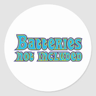 Batteries Not Included Round Sticker