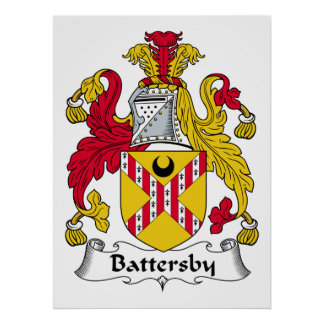 Battersby Family Crest Poster