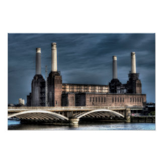 Battersea London Landscape Poster