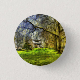 Battersea Park Pagoda Art 1 Inch Round Button