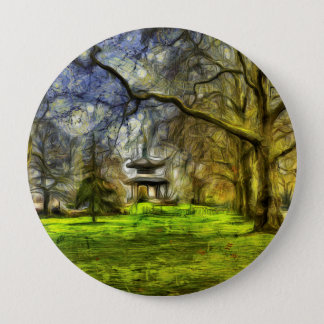 Battersea Park Pagoda Art 4 Inch Round Button