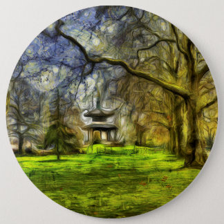 Battersea Park Pagoda Art 6 Inch Round Button