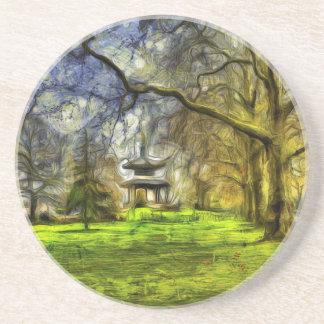 Battersea Park Pagoda Art Coaster