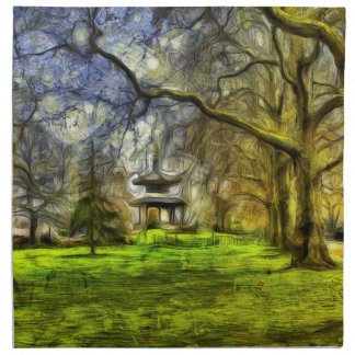Battersea Park Pagoda Art Napkin