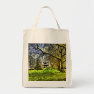 Battersea Park Pagoda Art Tote Bag