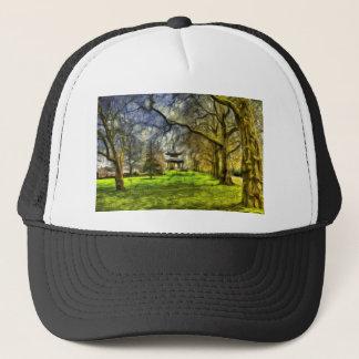 Battersea Park Pagoda Art Trucker Hat