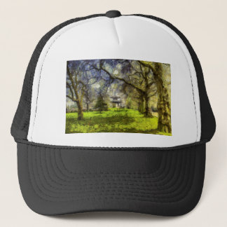 Battersea Park Pagoda Art Trucker Hat