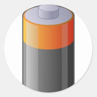 Battery Classic Round Sticker